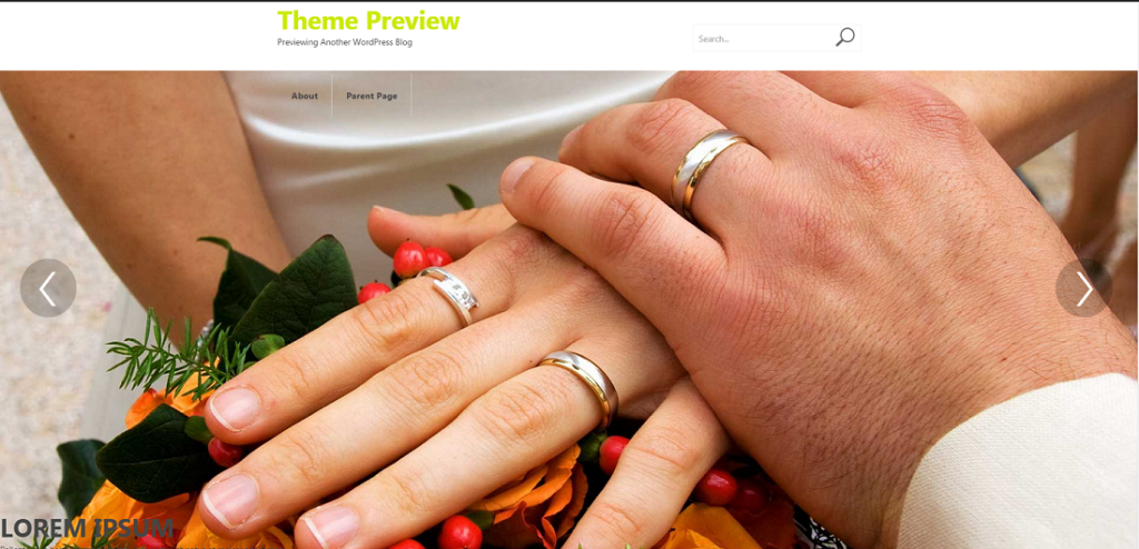 WordPress › Weddings « Free WordPress Themes