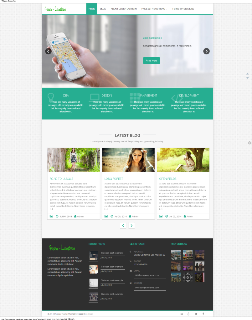 Green Lantern Free Theme   A Professional Multi Purpose Responsive Theme