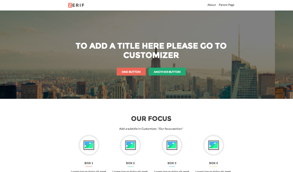 WordPress › Zerif Lite « Free WordPress Themes