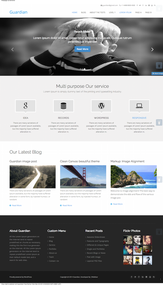 Guardian WordPress Theme   Just another Weblizar Demo Sites site