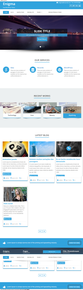 Enigma Free Theme   Free WordPress Theme
