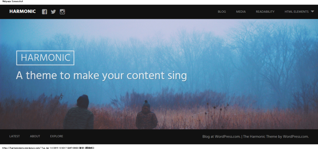 Harmonic   A theme to make your content sing
