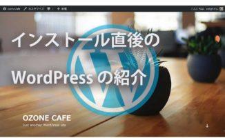 インストール直後のWordPress-の紹介